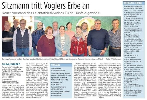 Neuer Vorstand des Leichtathletikkreises Fulda-Hünfeld gewählt